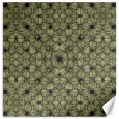 Stylized Modern Floral Design Canvas 12  X 12   by dflcprints