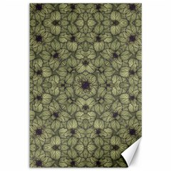 Stylized Modern Floral Design Canvas 12  X 18   by dflcprints