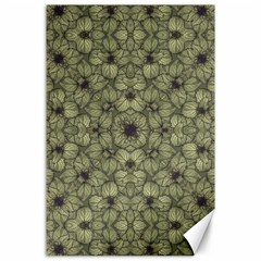 Stylized Modern Floral Design Canvas 24  X 36  by dflcprints
