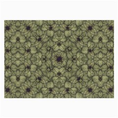 Stylized Modern Floral Design Large Glasses Cloth (2 Side) by dflcprints