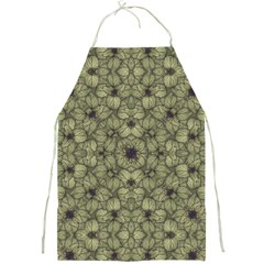 Stylized Modern Floral Design Full Print Aprons by dflcprints