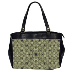 Stylized Modern Floral Design Office Handbags (2 Sides)  by dflcprints