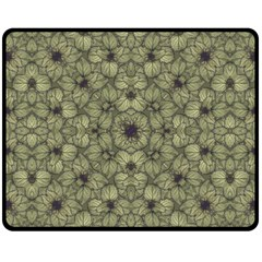 Stylized Modern Floral Design Fleece Blanket (medium)  by dflcprints