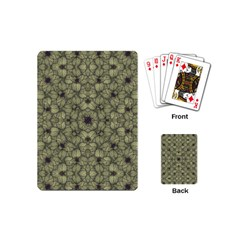Stylized Modern Floral Design Playing Cards (mini)  by dflcprints