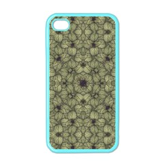 Stylized Modern Floral Design Apple Iphone 4 Case (color) by dflcprints