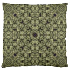 Stylized Modern Floral Design Large Cushion Case (two Sides) by dflcprints