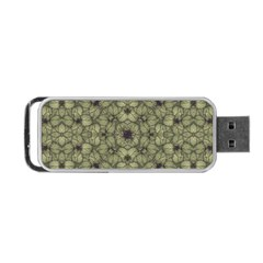 Stylized Modern Floral Design Portable Usb Flash (one Side) by dflcprints