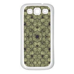 Stylized Modern Floral Design Samsung Galaxy S3 Back Case (white) by dflcprints