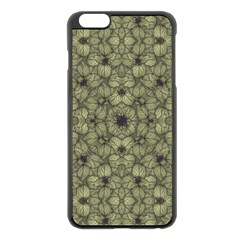 Stylized Modern Floral Design Apple Iphone 6 Plus/6s Plus Black Enamel Case by dflcprints