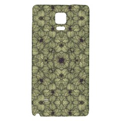 Stylized Modern Floral Design Galaxy Note 4 Back Case by dflcprints