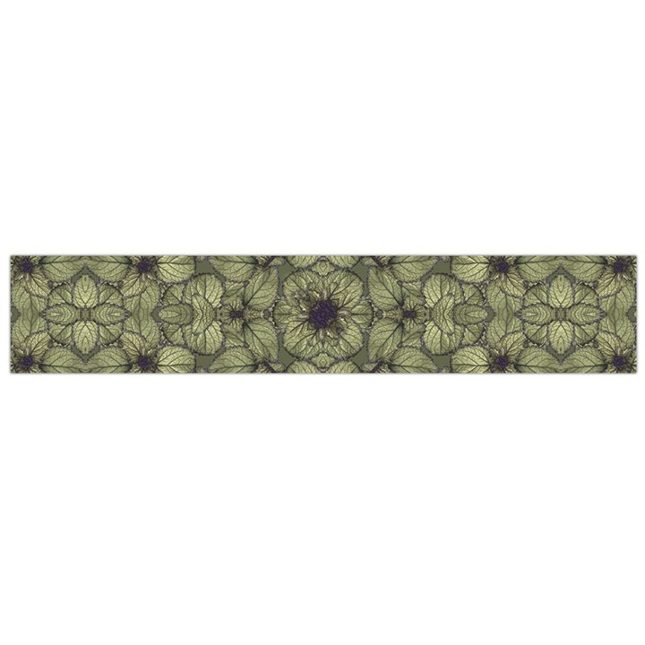 Stylized Modern Floral Design Flano Scarf (Large)
