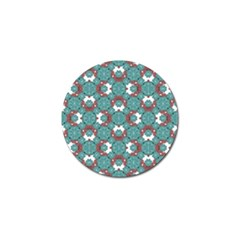 Colorful Geometric Graphic Floral Pattern Golf Ball Marker (10 Pack)