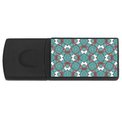 Colorful Geometric Graphic Floral Pattern Rectangular Usb Flash Drive by dflcprints