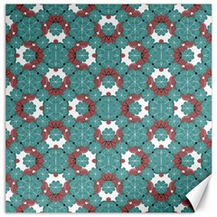 Colorful Geometric Graphic Floral Pattern Canvas 12  X 12   by dflcprints