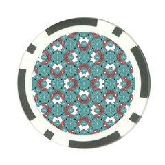 Colorful Geometric Graphic Floral Pattern Poker Chip Card Guard by dflcprints