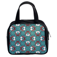 Colorful Geometric Graphic Floral Pattern Classic Handbags (2 Sides) by dflcprints
