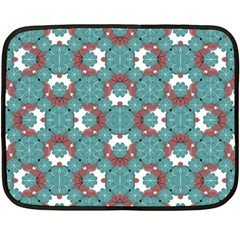 Colorful Geometric Graphic Floral Pattern Fleece Blanket (mini) by dflcprints