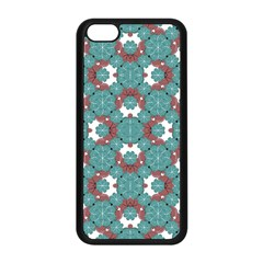 Colorful Geometric Graphic Floral Pattern Apple Iphone 5c Seamless Case (black) by dflcprints