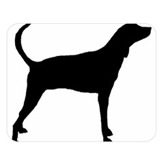 Plott Hound Silhouette Double Sided Flano Blanket (large)  by TailWags