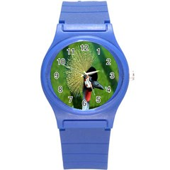 Bird Hairstyle Animals Sexy Beauty Round Plastic Sport Watch (s) by Mariart