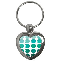 Bubbel Balloon Shades Teal Key Chains (heart)  by Mariart