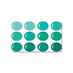 Bubbel Balloon Shades Teal Magnet (name Card) by Mariart