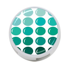 Bubbel Balloon Shades Teal 4 Port Usb Hub (two Sides)  by Mariart