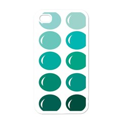 Bubbel Balloon Shades Teal Apple Iphone 4 Case (white) by Mariart