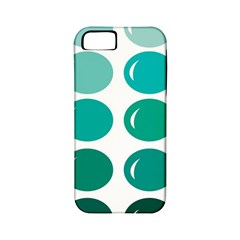 Bubbel Balloon Shades Teal Apple Iphone 5 Classic Hardshell Case (pc+silicone) by Mariart
