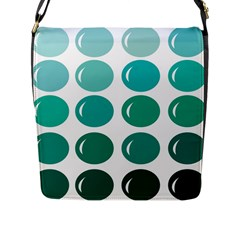 Bubbel Balloon Shades Teal Flap Messenger Bag (l)  by Mariart