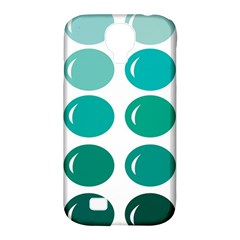 Bubbel Balloon Shades Teal Samsung Galaxy S4 Classic Hardshell Case (pc+silicone) by Mariart