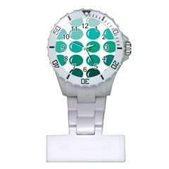Bubbel Balloon Shades Teal Plastic Nurses Watch by Mariart