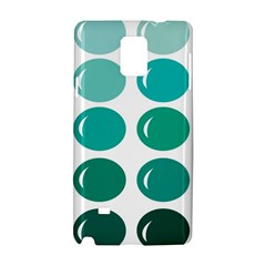 Bubbel Balloon Shades Teal Samsung Galaxy Note 4 Hardshell Case by Mariart