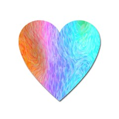Aurora Rainbow Orange Pink Purple Blue Green Colorfull Heart Magnet by Mariart
