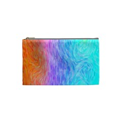 Aurora Rainbow Orange Pink Purple Blue Green Colorfull Cosmetic Bag (small)  by Mariart