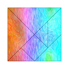 Aurora Rainbow Orange Pink Purple Blue Green Colorfull Acrylic Tangram Puzzle (6  X 6 ) by Mariart