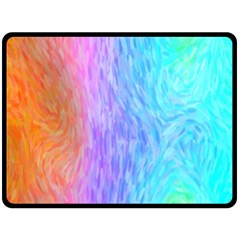 Aurora Rainbow Orange Pink Purple Blue Green Colorfull Double Sided Fleece Blanket (large)  by Mariart