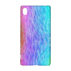 Aurora Rainbow Orange Pink Purple Blue Green Colorfull Sony Xperia Z3+ by Mariart
