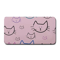Cat Pattern Face Smile Cute Animals Beauty Medium Bar Mats by Mariart
