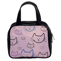 Cat Pattern Face Smile Cute Animals Beauty Classic Handbags (2 Sides) by Mariart