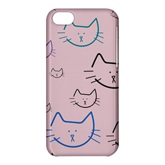 Cat Pattern Face Smile Cute Animals Beauty Apple Iphone 5c Hardshell Case by Mariart