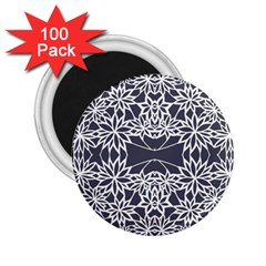 Blue White Lace Flower Floral Star 2 25  Magnets (100 Pack)  by Mariart