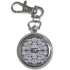 Blue White Lace Flower Floral Star Key Chain Watches by Mariart