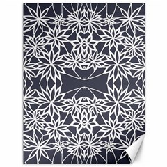 Blue White Lace Flower Floral Star Canvas 36  X 48   by Mariart