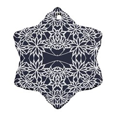 Blue White Lace Flower Floral Star Ornament (snowflake) by Mariart