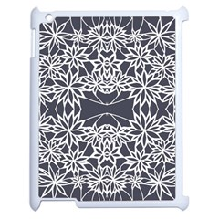 Blue White Lace Flower Floral Star Apple Ipad 2 Case (white) by Mariart