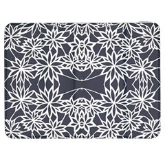 Blue White Lace Flower Floral Star Samsung Galaxy Tab 7  P1000 Flip Case by Mariart