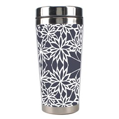 Blue White Lace Flower Floral Star Stainless Steel Travel Tumblers by Mariart