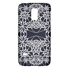 Blue White Lace Flower Floral Star Galaxy S5 Mini by Mariart
