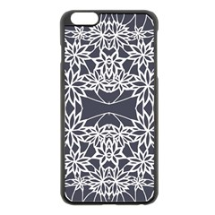 Blue White Lace Flower Floral Star Apple Iphone 6 Plus/6s Plus Black Enamel Case by Mariart